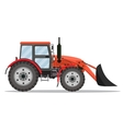 red Tractor bulldozer icon vector image