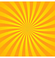Yellow orange rays poster vector image