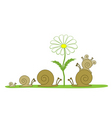 snail for a walk vector image