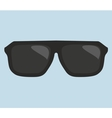 Black hipster sunglasses vector image