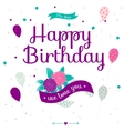 Cute romantic and lovely Happy Birthday card with vector image