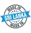 made in Sri Lanka blue round vintage stamp vector image
