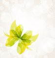 Abstract green butterfly for design celebration vector image
