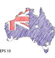 Australia Flag Sketched vector image