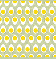 eggs seamless ornament easter food tile floral vector image