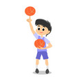 happy kids school activity child sport team boy vector image