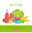 Healthy Food Concept Web Banner vector image