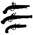Historical matchlock pistols vector image