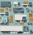 Logistics Transport Icon Set vector image