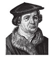 martin luther vintage vector image