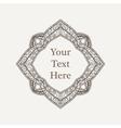 ornate richly decorated vintage frame vector image