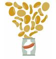 Potato chips taste like sausage Packaging bag of vector image