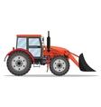 red Tractor bulldozer icon vector image