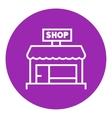 Shop store line icon vector image