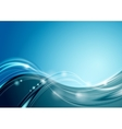 Abstract bright blue wavy background vector