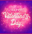 valentines day card with bokeh blurred hearts vector image