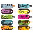 grunge sale labels vector image