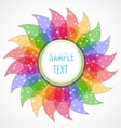 Abstract colorful flower vector image vector image