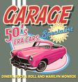 classic car garage 50 era vector image