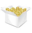 coin box vector image vector image