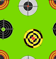 seamless background of targets vector image vector image