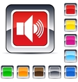Sound square button vector image vector image