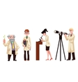 Male and female scientists - chemist physicist vector image