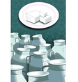 milk can with diary product vector image