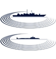 Naval fleet vector image