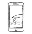 smartphone gps navigation car on road vector image