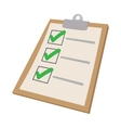 To do list icon cartoon style vector image