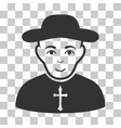 Christian Priest Icon vector image