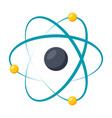 model atom icon vector image vector image
