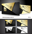 Creative and modern business card design vector image