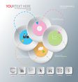 circle of Abstract business vector image