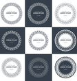 set outline emblems and badges - abstract hipster vector image