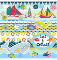 seas and oceans vector image