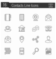 Contacts Line Icons vector image