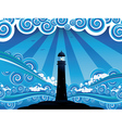 Lighthouse in the Sea4 vector image
