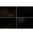 Gold glitter texture set vector image