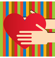 Colorful hands with heart vector image