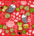 colorful seamless pattern with cute doodle birds vector image