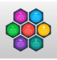 infographics template with six options in vector image
