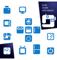 set icons home appliances vector image
