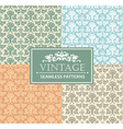 Vintage seamless background antique victorian vector image