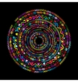 Round ornament design ethnic mandala vector image