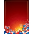 American Celebration Background vector image vector image