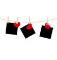 photos clothespins hearts vector image