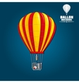 Hot air balloon with detailed elements vector image