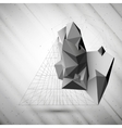 Abstract 3D pyramid template for business or vector image